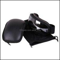 ولوازم المعدات اللياقة البدنية الرياضة الرياضة في الهواء الطلق بو الجلود النظارات حالة المحمولة النظارات الحالات حقيبة الحاويات للتزلج g