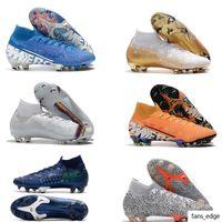 Brang 2020 New Gold CR7 SE ELITE VI 360 FG футбол футбольный ботинок Mercurial Superfly 6 LVL UP Cristiano Ronaldo Men Soccer Cleatsn Ni