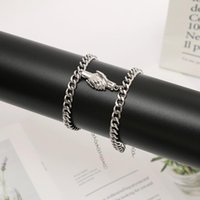 Charm Bracelets The Fashion Trend Of Alloy Holding Hand Magnet Attracts Lovers Bracelet Wrist Simple Hook Lock Chain Jewelry Accessory Gifts