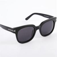 Fashion Tom Brand Designer Polarized Sunglasses Mens Womens Acetate TF 211 Vast Frames Sun glasses UV400 Oculos masculino Male
