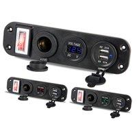 Модифицированное 12V USB зарядное устройство для автомобилей зарядные устройства панель быстрая зарядка для телефона с включением / выключением 5V 4.2A прикуривателя прикуриватель адаптер вольтметра
