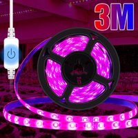 Touch Dimming Grow Light Strip 0.5M 1M 2M 3M Plant Lamp For Flower Seed LED Hydroponic System Growth Tent Fitolampy Lights
