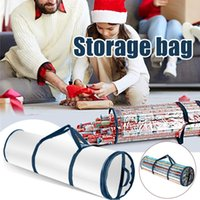 Storage Bags Slim Under Bed Gift Organizer Waterproof Pvc Fabric Wrapping Paper Roll Bag Organization Luggage Fast Delivery