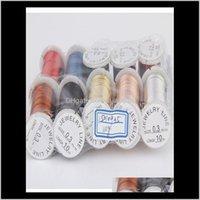 Strumenti per perline 10 03045mm Rolls Colore misto Acciaio Acciaio perline Filo filo String Stringa FAI DA TE Making per cucire strumenti Forniture WMTDLD E6VUS OSTQ8