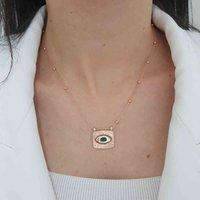 Trendy 925 Silver Lucky Turkish Jewelry Zircon Fashion Shine Star Sun Evil Eye Necklace For Women Minimal Style Luxury Designer