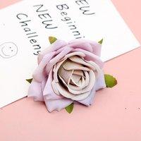 Новые 1 шт. 7 см Искусственная белая роза шелковые цветочные головки для украшения свадьбы DIY венок подарочная коробка скрапбукинг ремесло поддельные EWA6049