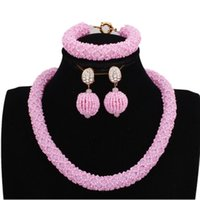 Earrings & Necklace Dudo Necklaces For Women 2021 4 Colors Simple African Beads Jewelry Set Crystal Handmade High Quality Wholesale