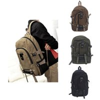 Backpack Travel Rucksack Multifunctional Bucket Men Rugzak Canvas College Student Casual School 2021