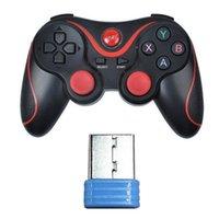 Game Controller Joysticks Adapter USB-Empfänger Bluetooth Wireless Gamepad Console Dongle für T3 / S5 (rot) Controller