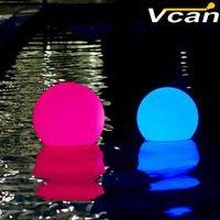 Strings imperméable IP68 Télécommande flotte clignotant Bleu Bleu Blanche 16 couleurs LED Éclairage Ballon