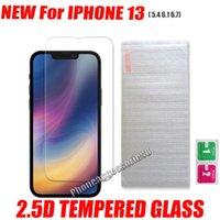 Commercio all'ingrosso Pellicola Protezione schermo Telefono in vetro temperato 2.5D per iPhone 13 12 11 Pro Max XS X XR 7 8 Plus Samsung A12 A22 A32 A42 A52 A72 A92 5G 4G in borsa opp