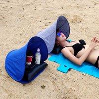 Пляж Face Tent Umbrella + воздушная подушка на открытом воздухе Портативный небольшой тентовой ультраслый складной ультрафиолетовый ультрафиолетовый солнцезащитный воздух