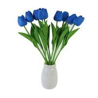 الزهور الاصطناعية بيند عشوائيا بو البلاستيك توليب ريال اللمس الحرير زهرة الديكور المنزل الزخرفية