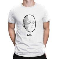T-shirts Anime One Punch Man OK Tryckta män T-shirt Fashion Cool Confortable Tshirt Casual T-shirt för