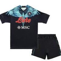 Men's T-Shirts Maradona Adults Kit Kids Top Quality 21 22 Napoli Shirt MERTENS LOZANO INSIGNE MILIK FABIAN 20 Naples Child
