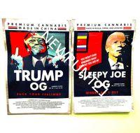 Trump OG Bag Sleepy Joe 2021 BACK 3 5G BAG BAG BAGS Zipper Borse Lati Sigillato Piatto 420 Borse da imballaggio Flower Borse Biscotti Borsa Edibles