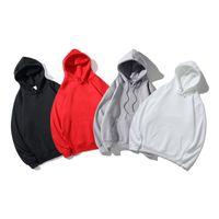 الرجال هوديي إلكتروني الأحمر التطريز مصمم عارضة الأزياء الأوروبية والأمريكية الاتجاه الخريف الشتاء فضفاض الملابس الدافئة الصوف السيدات مقنع سترة S2021