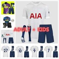 Erwachsene Kits 21 22 Dele Sohn Tottenham Bale Kane Fussball Jersey Hojbjerg Bergwijn Lo Celso Spurs 2021 2022 Lucas Football Hemden Uniformen Männer + Kinder Kit Socken