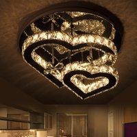 Plafonniers décoratifs Lampes d'amour romantique Cristal en forme de cristal en forme d'intérieur pour salon Atmosphérique Moderne Moderne Minimaliste LED Lampes de Fashional lumineux