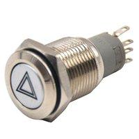 16mm Car Emergency Hazard Avvertimento Flash Light Switch Pulsante On / Off Altro sistema di illuminazione