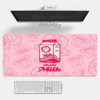 Mouse Pads & Wrist Rests Kawaii Strawberry Milk Pad 80x30cm Anime Gming Keyboards Gamer Computer Rubber Cute Office Desk Mats