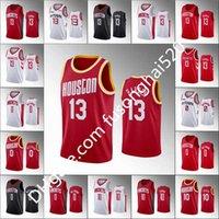 Entrega rápida Nuevos Hombres Baratos James 13 Harden Russell 0 Westbrook Shirts Alta Calidad 2021 Blanco Blanco Baloncesto Rojo Camiseta Size S-XXL
