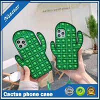 3D Descompressão Capas telefônicas de cacto para iphone 12 pro máximo mini 11 xs x 10 8 7 mais exclusivo silicone macio moda de borracha de luxo telecelação de tira de capa