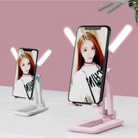 Fashion Mobile Phone Mounts Stand Desktop Support Live Folding Receive Beauty Radiator Cooling Refrigeration Portable