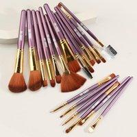 Makeup Brushes MAANGE 19Pcs Tool Set Cosmetic Powder Eye Shadow Foundation Blush Blending Beauty Make Up Brush