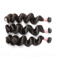 100% peruano cabelo virgem 3 pcs lote cor natural onda solta cabelo humano extensões bella cabelo produtos
