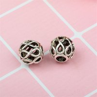 Eternity Alloy Charm Bead Fashion Women Jewelry Stunning European Style Fit For Pan DIY Bracelet Necklace PANZA005-49