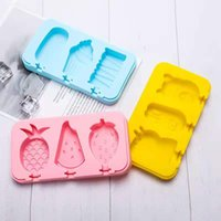 Silicone Ice Cream Mold With Tool Lid Animals Shape Jelly Maker Baby DIY Food Supplement Popsicle Stick Kitchen Accessories LLE6687