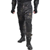 Охотничьи наборы Хан Дикие Мужчины Военные штаны с коленами колодки тактические грузовые армии солдат боевые брюки пейнтбол одежда