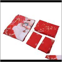 Sets Bedding Supplies Textiles Home & Gardenbedding Cotton Four-Piece Set Quilt Er Father Christmas Badge Bed Comforter Colorful Full King Q