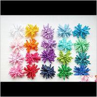 20 stücke Mädchen Baby-Lockenwickler Bögen Blumen Clips Corker Barrettes Korkfer Ribbon Haar Krawatten Bobbles Zubehör PD007 Zdim9 Ku0jf
