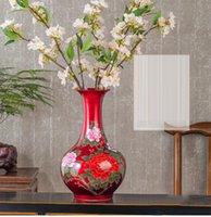 Vases Jingdezhen Ceramic Vase Arrangement Living Room Flower Crystal Glaze Blossom Rich Ware Modern Home Decorative