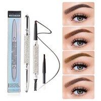 Makeup Brushes Eyebrow Pencil Lasting Waterproof 4 Color Non-Makeup Free Refill Brow Brush