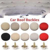10pcs Set Car Roof Buckles Repair Kit Tools Headliner Ceiling Cloth Fixing Screw Cap Repairs Automotive Care Fabric Buckle Rivets Retainer Interior Accessory