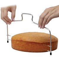 DIY ferramentas de aço inoxidável ferramentas dupla linha ajustável ferramentas de cozimento bolo pão cortador strings faca de sabão faca
