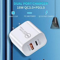 18W Fast USB Charger Quick Charge Type C PD Fast Charging For iPhone EU US Plug USB Charger With QC 4.0 3.0 Phone Charger with box