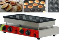 Пресс-формы для выпечки 220V / 110V 50 отверстий Waffle Maker Commercial Biscuits Dutch Poffertjes Grill Mini Bancake Machine