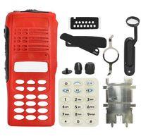 Substituição Habitação Caso Vermelho Capa Frontal Com Kit de Keypad Full Kit Repair Sets para HT1250 Motorola Dois Way Radio