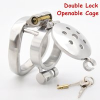 Stainless Steel Small Chastity Device With Penis Plug Catheter Bondage Locking Sadism Restraint Sex Toys For Man