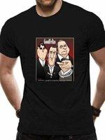 Caricatura Goodfellows Filme Gangster T Camisa 2021 Neues Jahr T-Shirt Männer Frauen Cartoon Casual Kurze Oansatz Broadcloth CN (Herkunft)