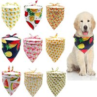 Watermelon Pineapple Fruit Print Pet Dog Bandana Cat Scarf Adjustable Cotton Puppy Summer Grooming Accessories Apparel
