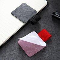 Soporte de pluma de cuero autoadhesivo domiciliario con bucle elástico para cuadernos, revistas, planificadores y calendarios GWE5856