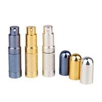 Bullet Toplu Parfüm Şişesi Sprey Alüminyum Tüp Boş Şişeler Parti Malzemeleri Kozmetik Taşınabilir Mini Cam Liner 6 ml Deniz GWC7536