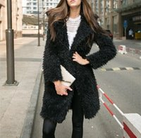 Piel de mujer Faux Spring Chic Winter Coat Warm Abrigo Lujoso Largo Chaqueta Negra Mujer Manteau Fourure TP3S