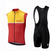 Morvelo Team Cycling Sans manches Jersey Gilet (BiB) Short Settures Vêtements Racing Soft Soft Cycle Cycle Cycle Multi-Couleur Full Full Summer peut être Mix Z413012