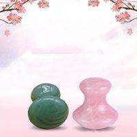 Massage Stones Rocks Natural Rose Quartz Green Aventurine Mushroom Shape Gua Sha Guasha Scraping Tool Board for Relaxing Meditation 912 B3